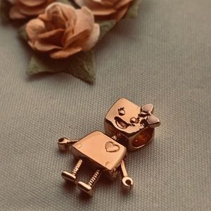 Authentic PANDORA Bella Bot Charm Rose Gold
